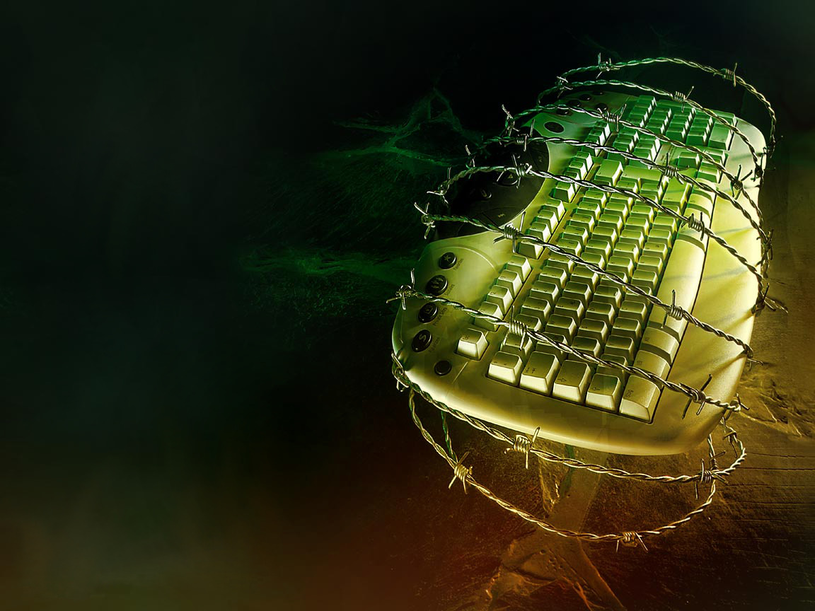 keyboards barbed wire HD Wallpaper