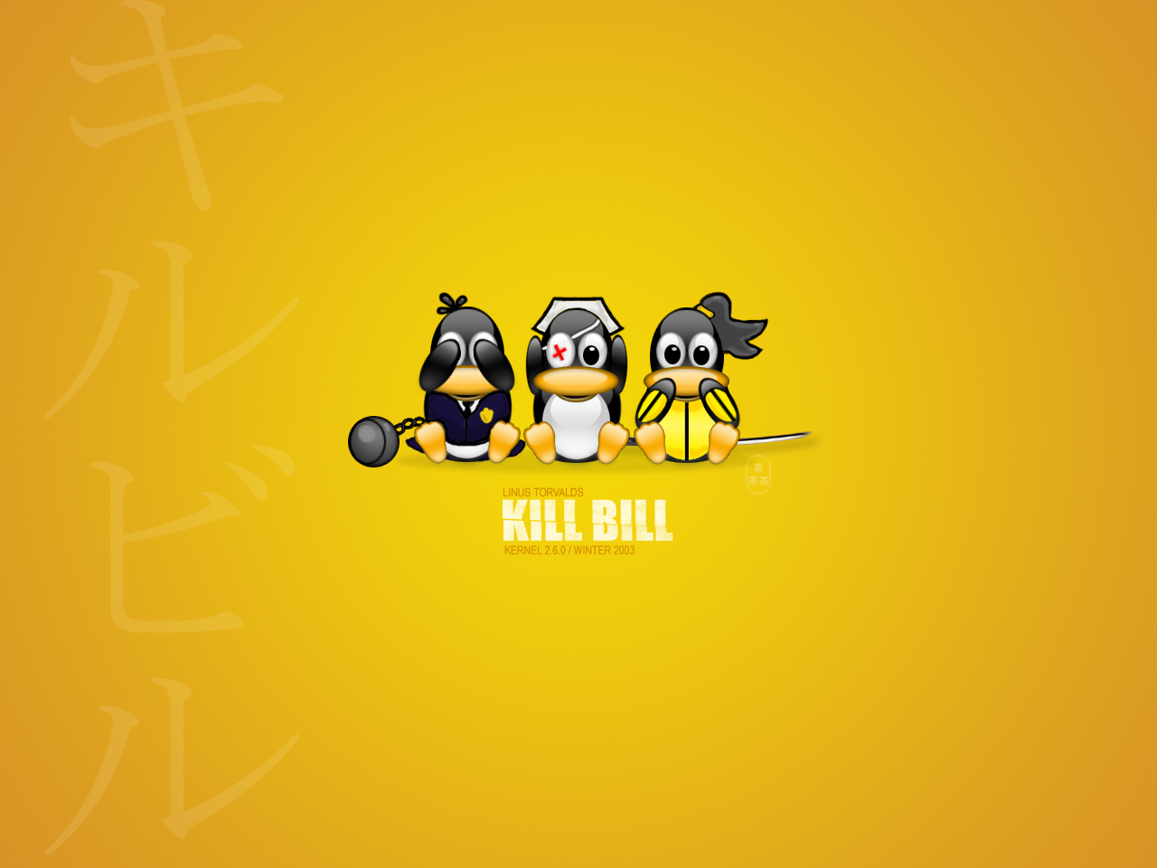 Kill Bill Penguins HD Wallpaper