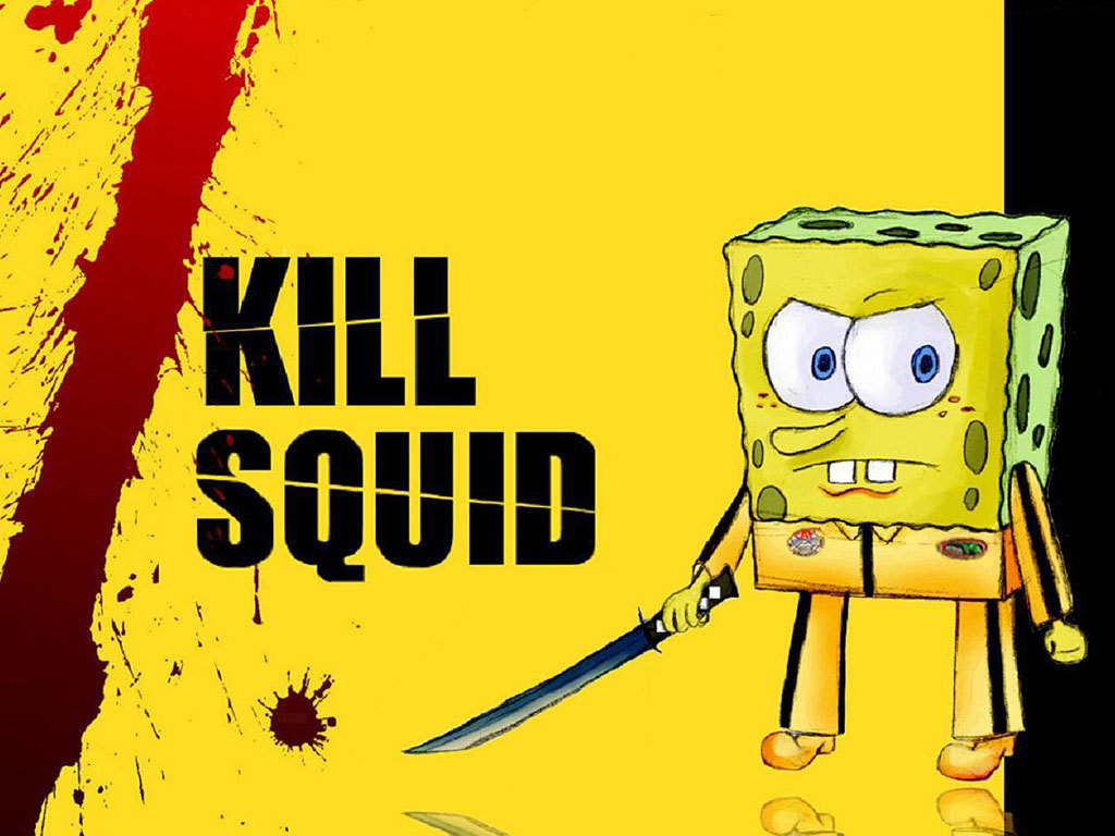 Kill Bill SpongeBob SquarePants HD Wallpaper