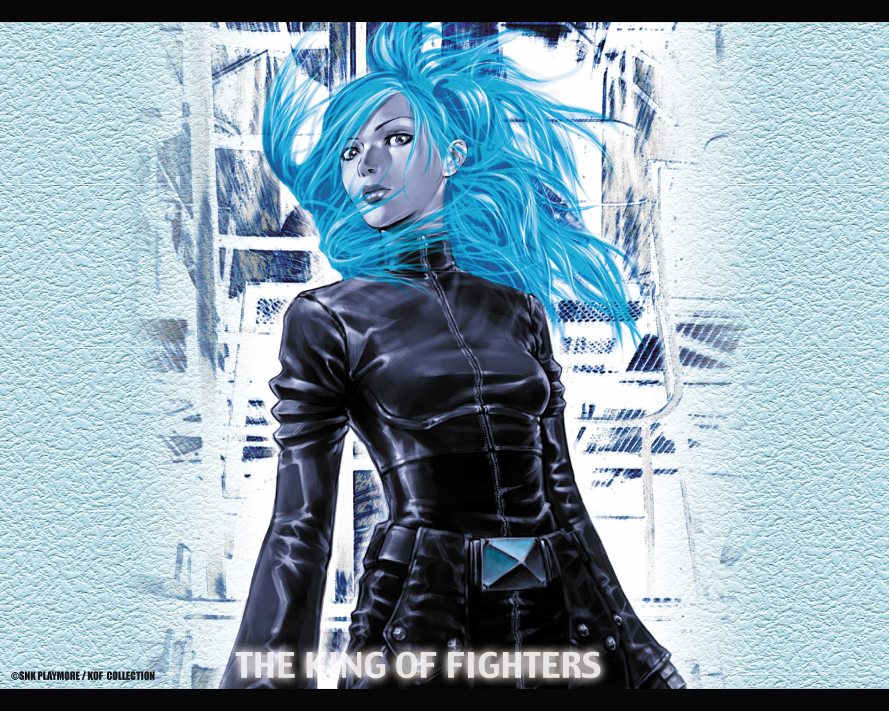 king fighters blue hairs HD Wallpaper