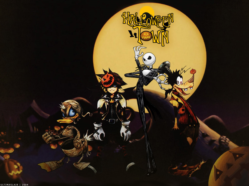 Kingdom Hearts Halloween goofy HD Wallpaper