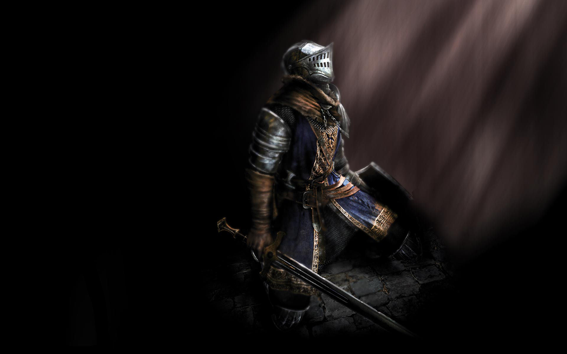 Knights helmets Swords dark HD Wallpaper
