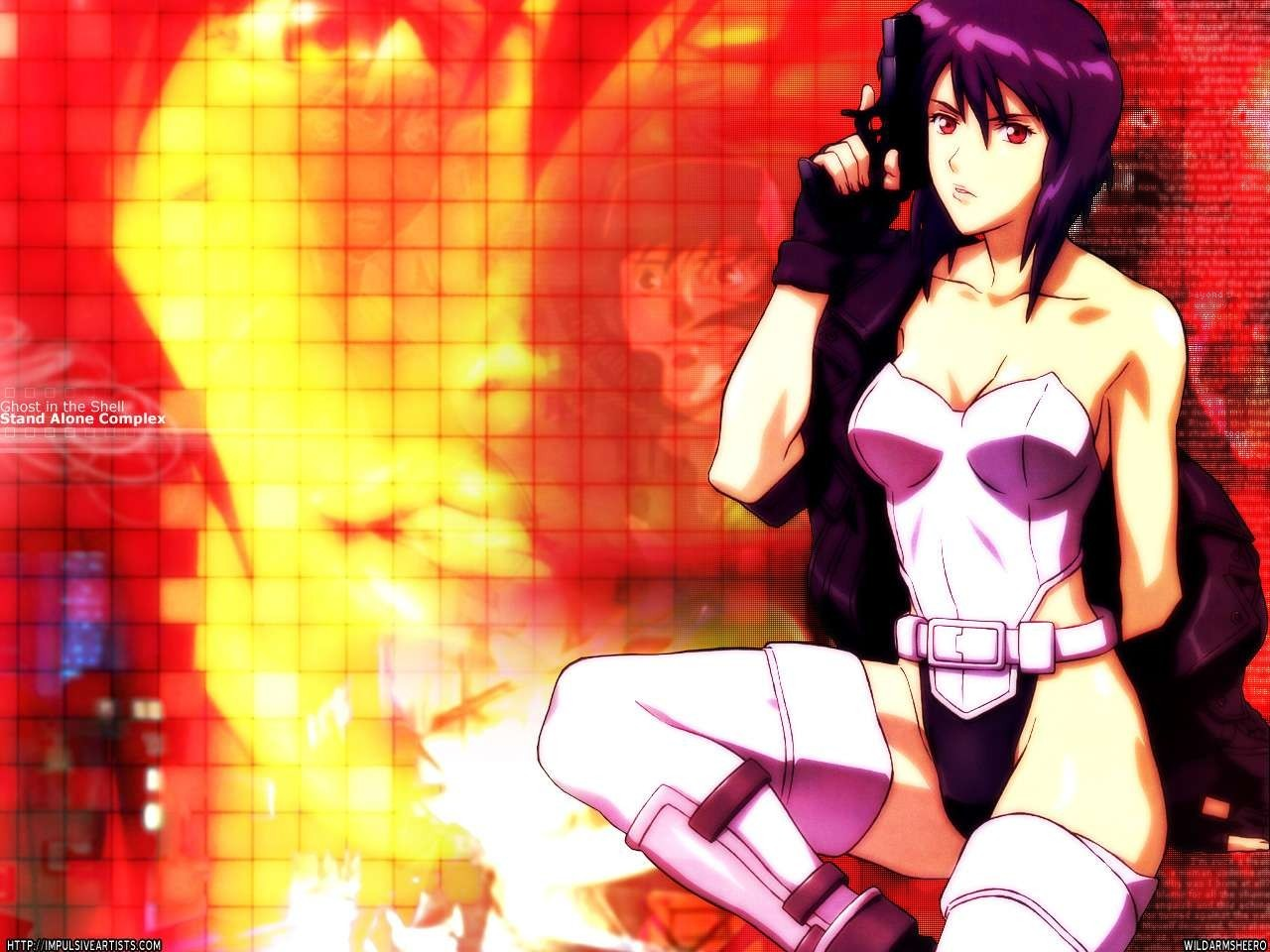 Kusanagi Motoko Ghost in HD Wallpaper