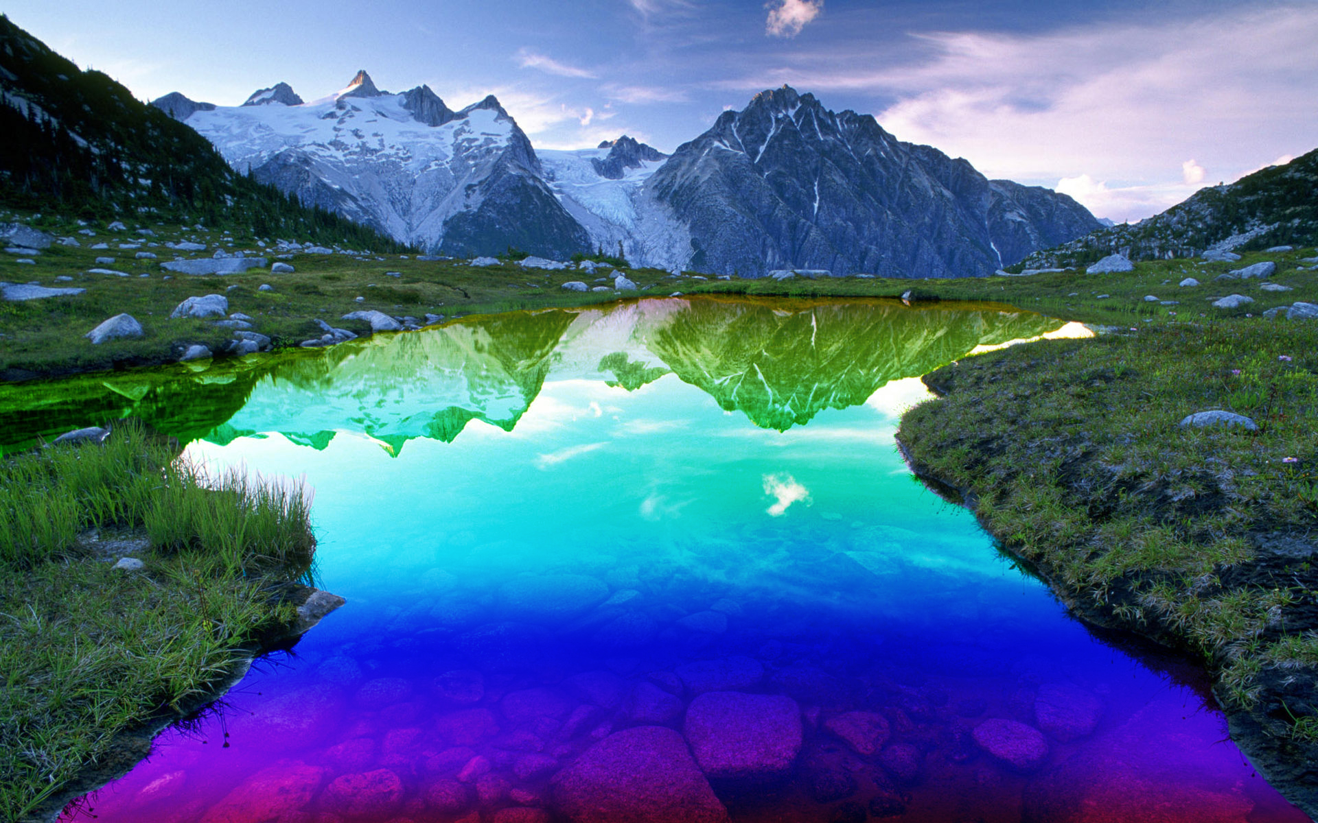 lakes nature Mountains Landscapes HD Wallpaper
