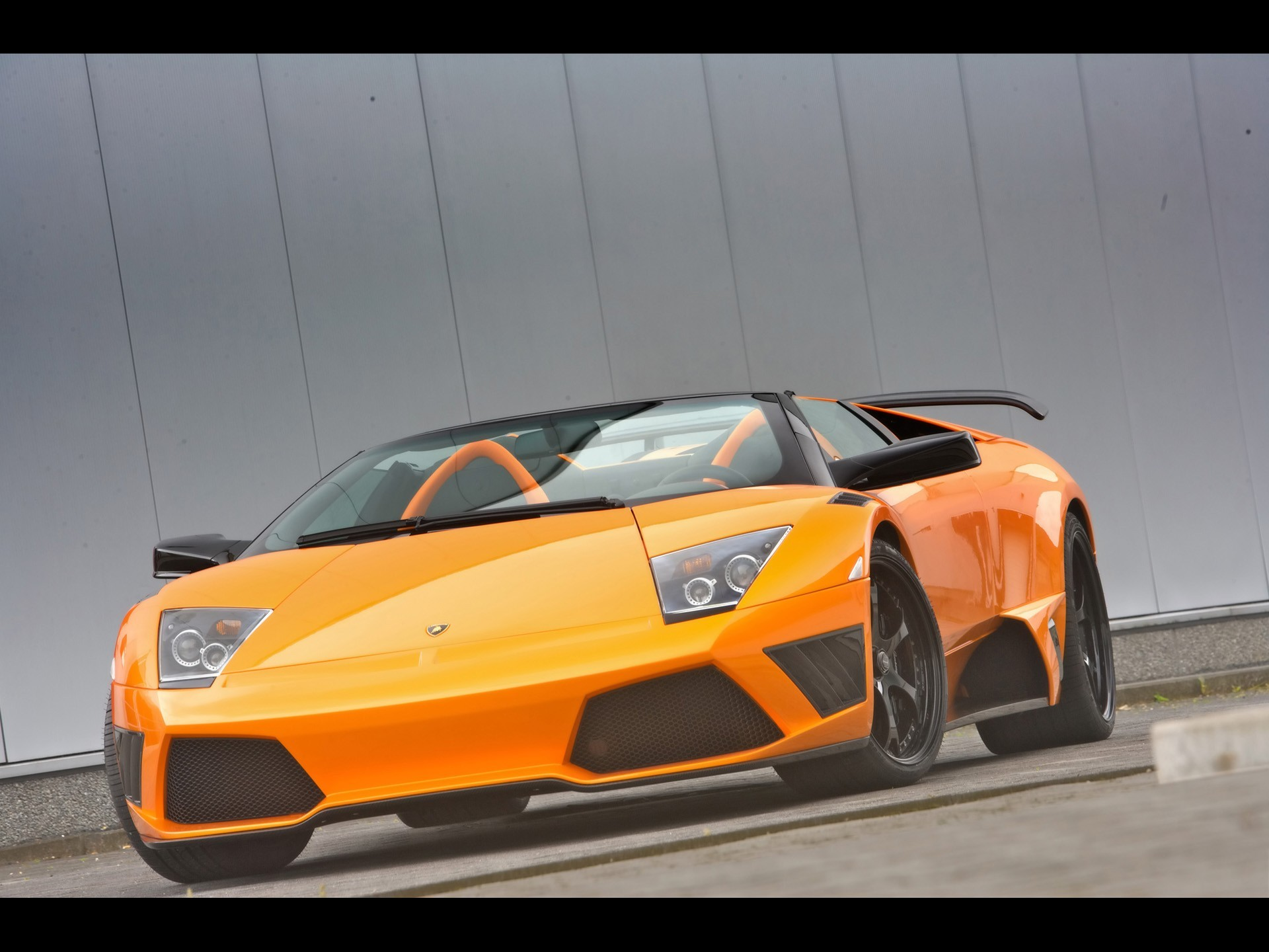 lamborghini murcielago orange cars HD Wallpaper