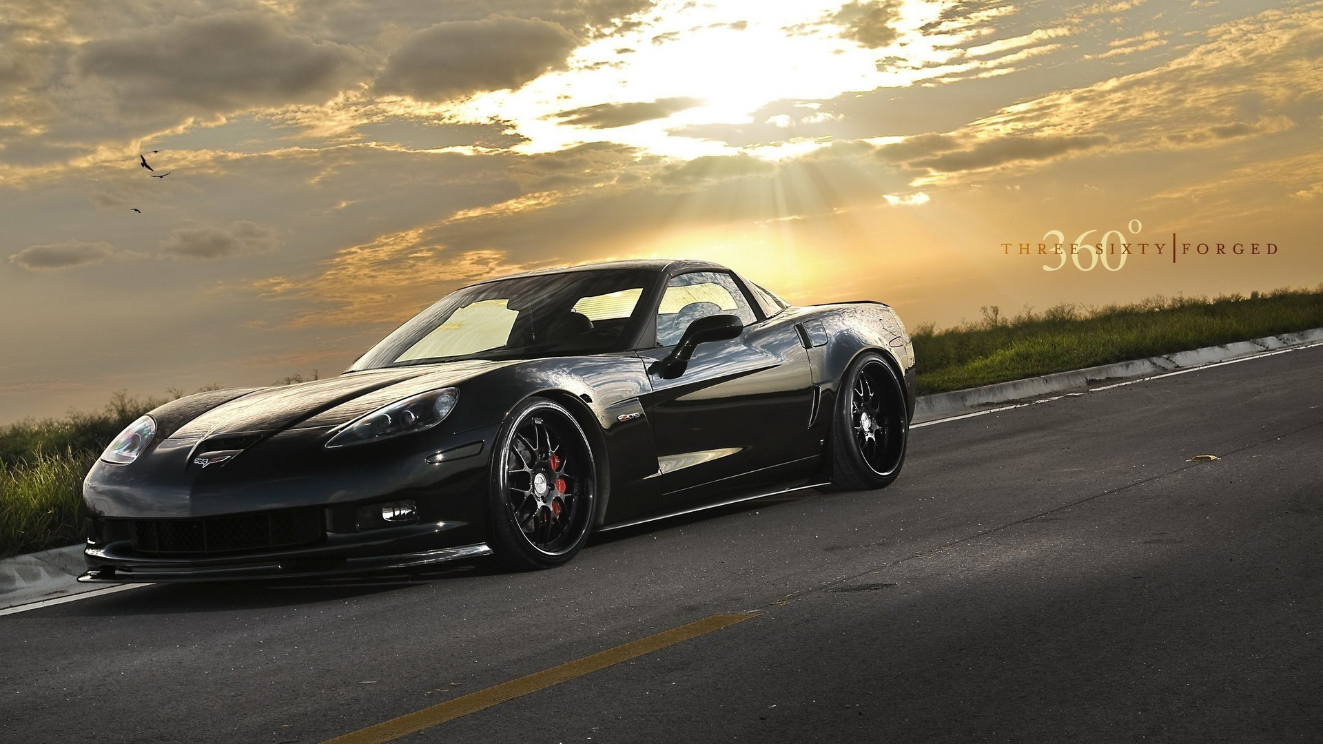 Landscapes cars chevrolet corvette HD Wallpaper