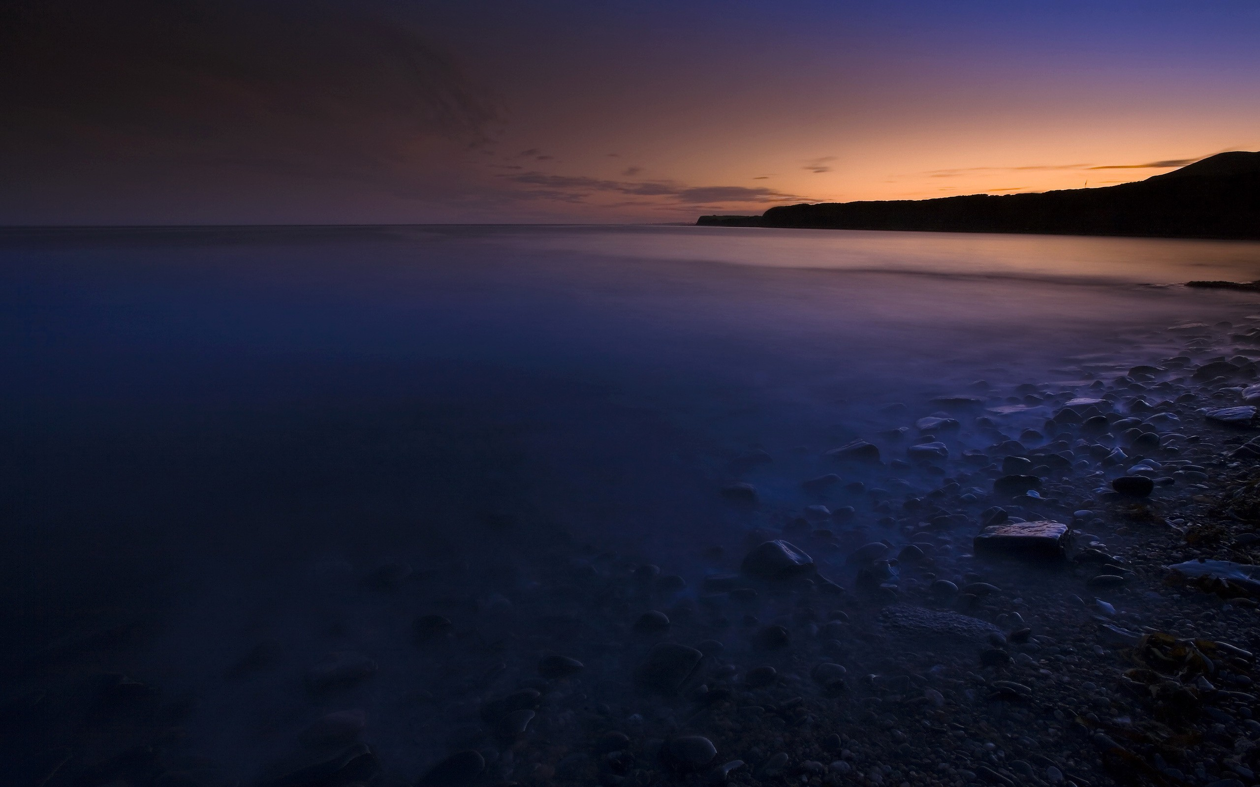 Landscapes dark wall Sea HD Wallpaper