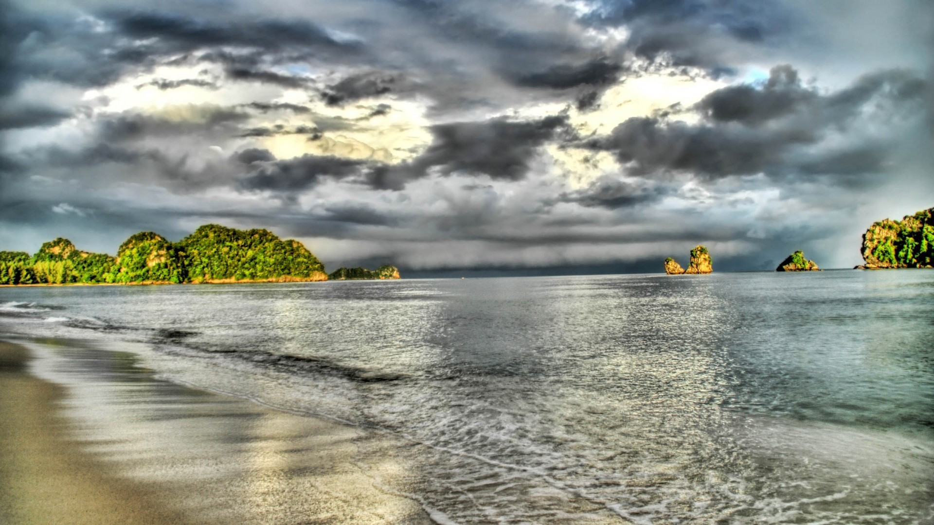 Landscapes HDR Photography Beaches HD Wallpaper
