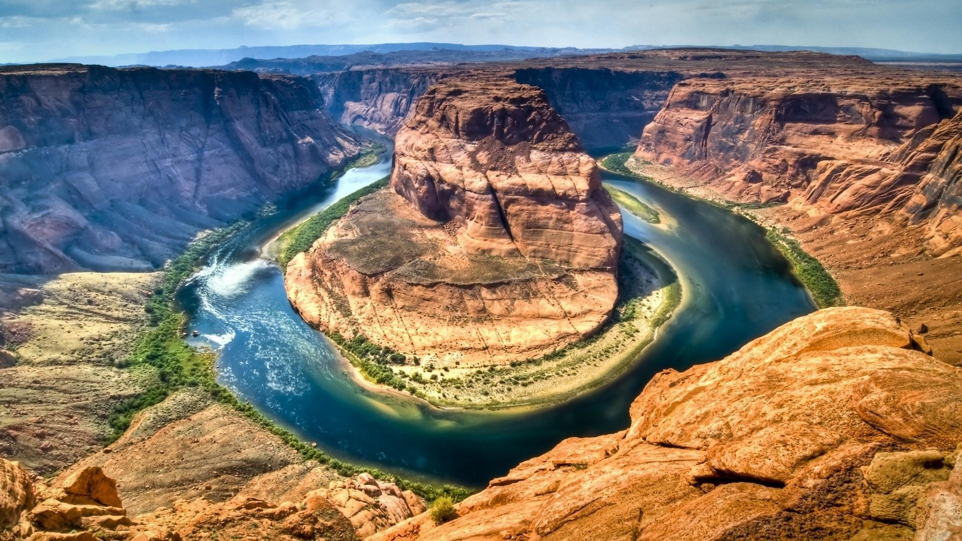 Landscapes nature canyon rivers HD Wallpaper