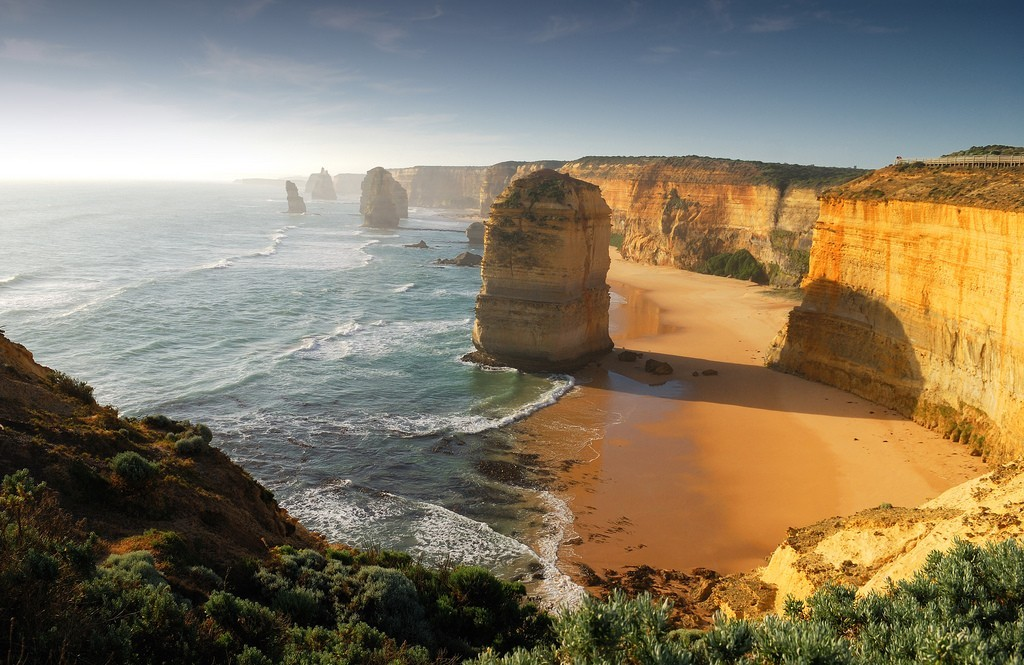 Landscapes nature ocean cliffs
