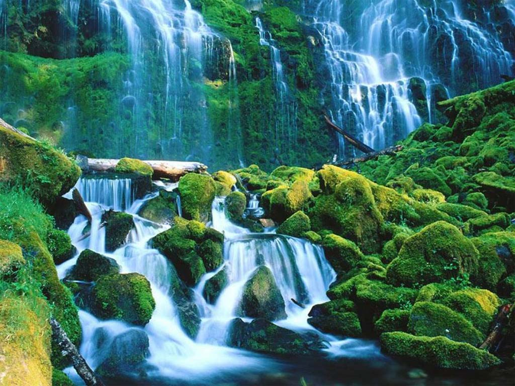Landscapes nature waterfalls