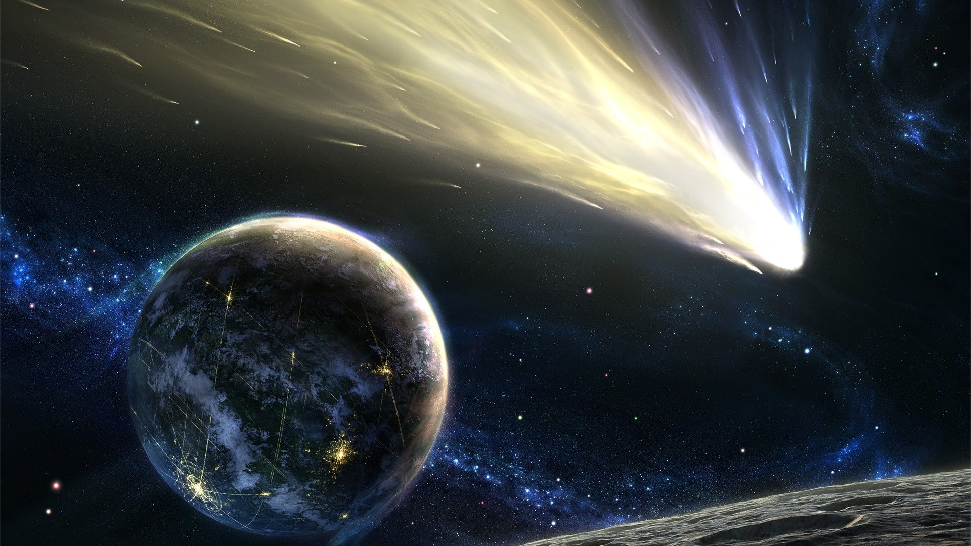 Landscapes outer space planets HD Wallpaper