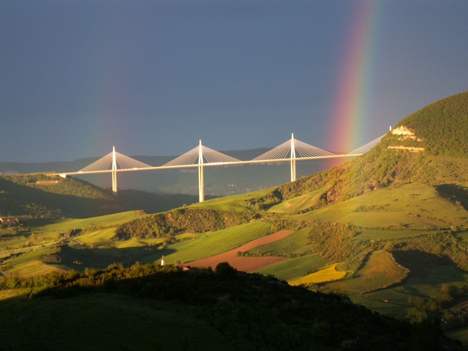 Landscapes rainbows Viaduc de HD Wallpaper