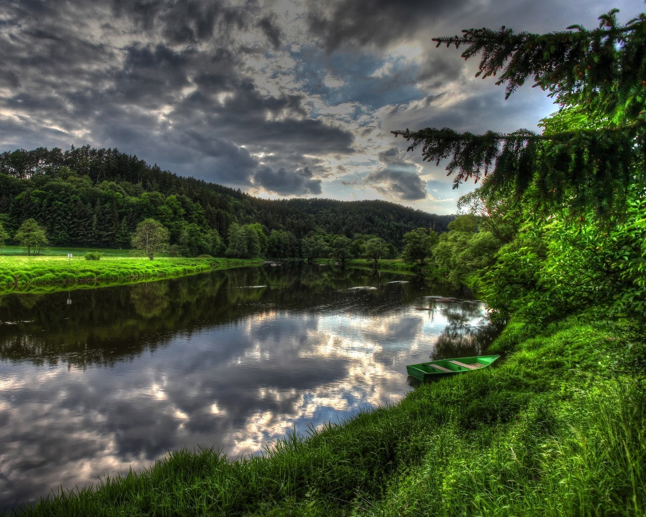 Landscapes rivers HD Wallpaper