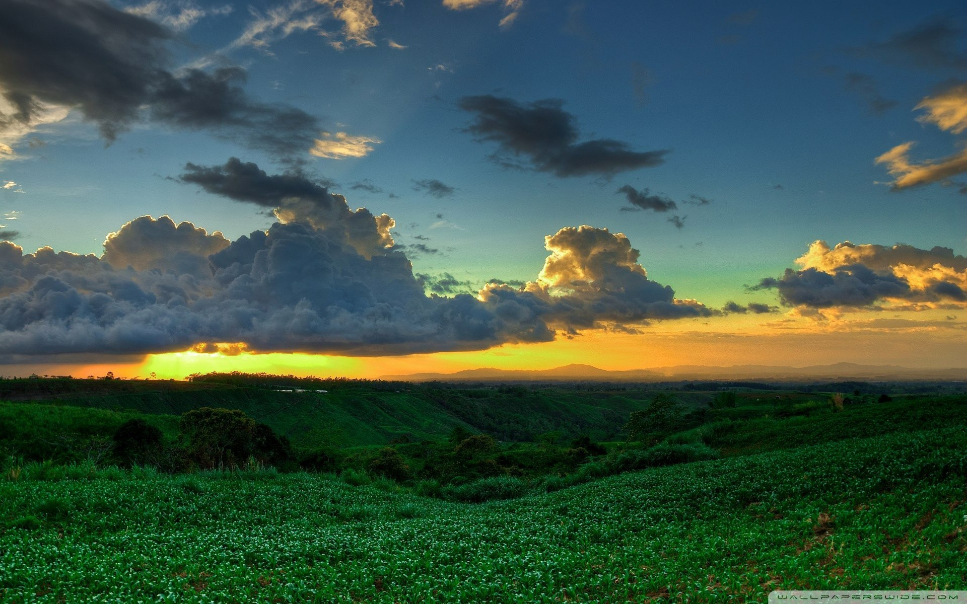 Landscapes sunset nature clouds Philippines HD Wallpaper