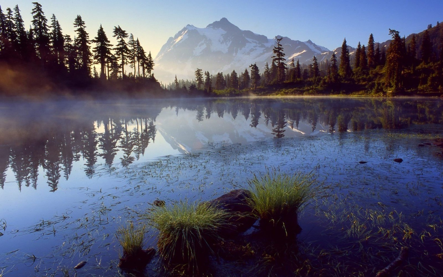 Landscapes Trees lakes HD Wallpaper
