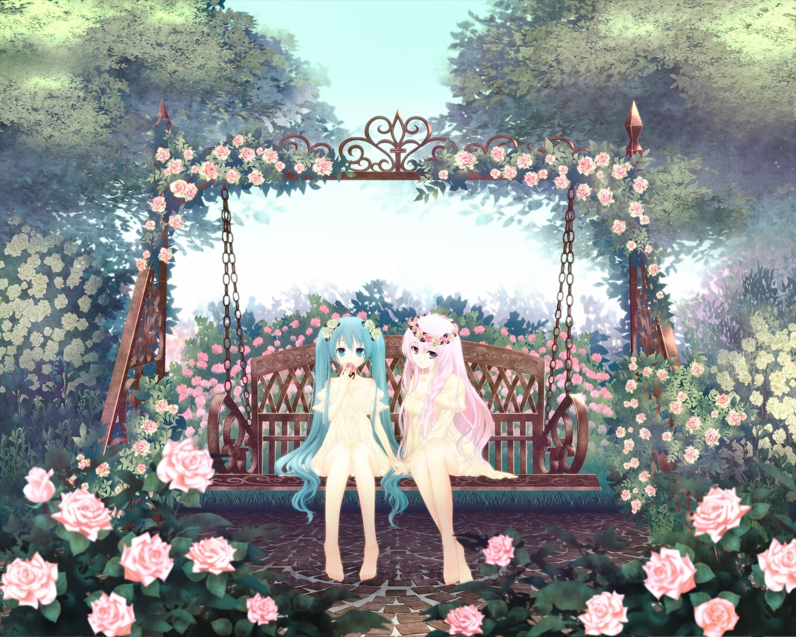 Landscapes Trees vocaloid Flowers HD Wallpaper