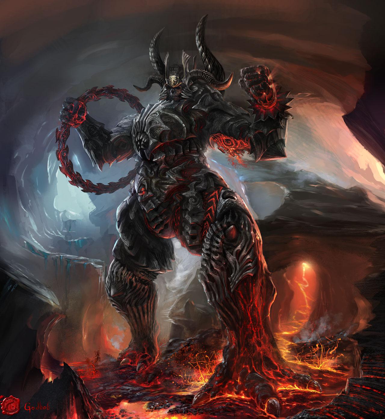 Lava Demons Fantasy Art