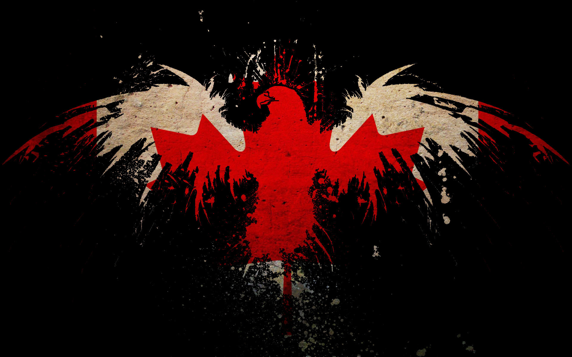 leaf Eagles Canada Flags HD Wallpaper