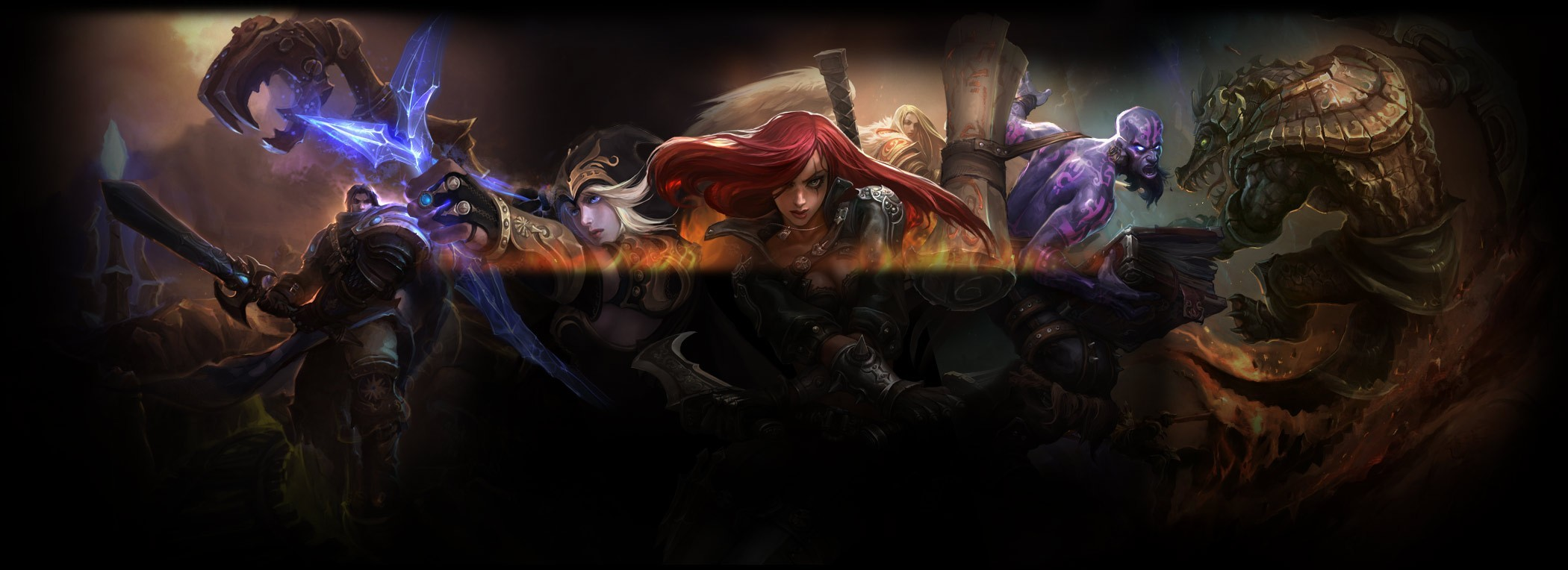 League of Legends artwork HD Wallpaper
