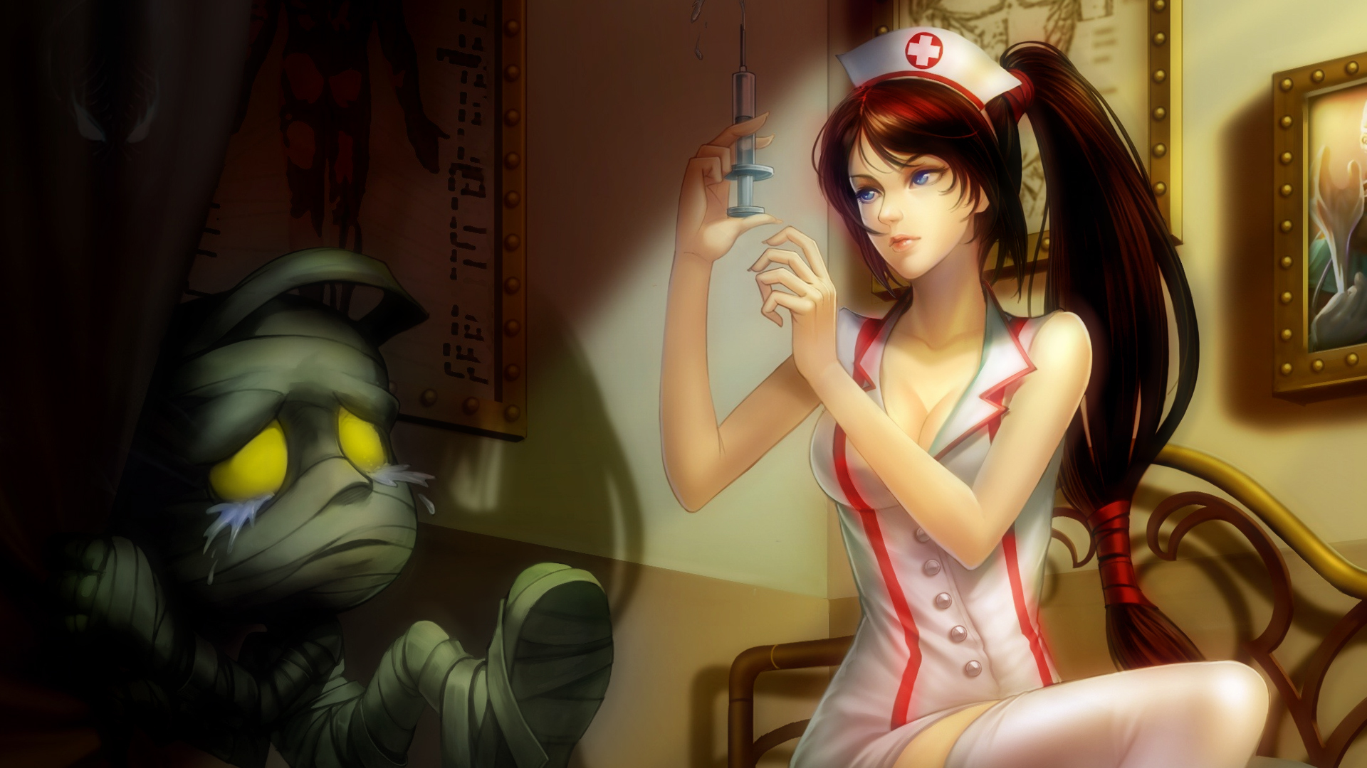 League of Legends nurses HD Wallpaper