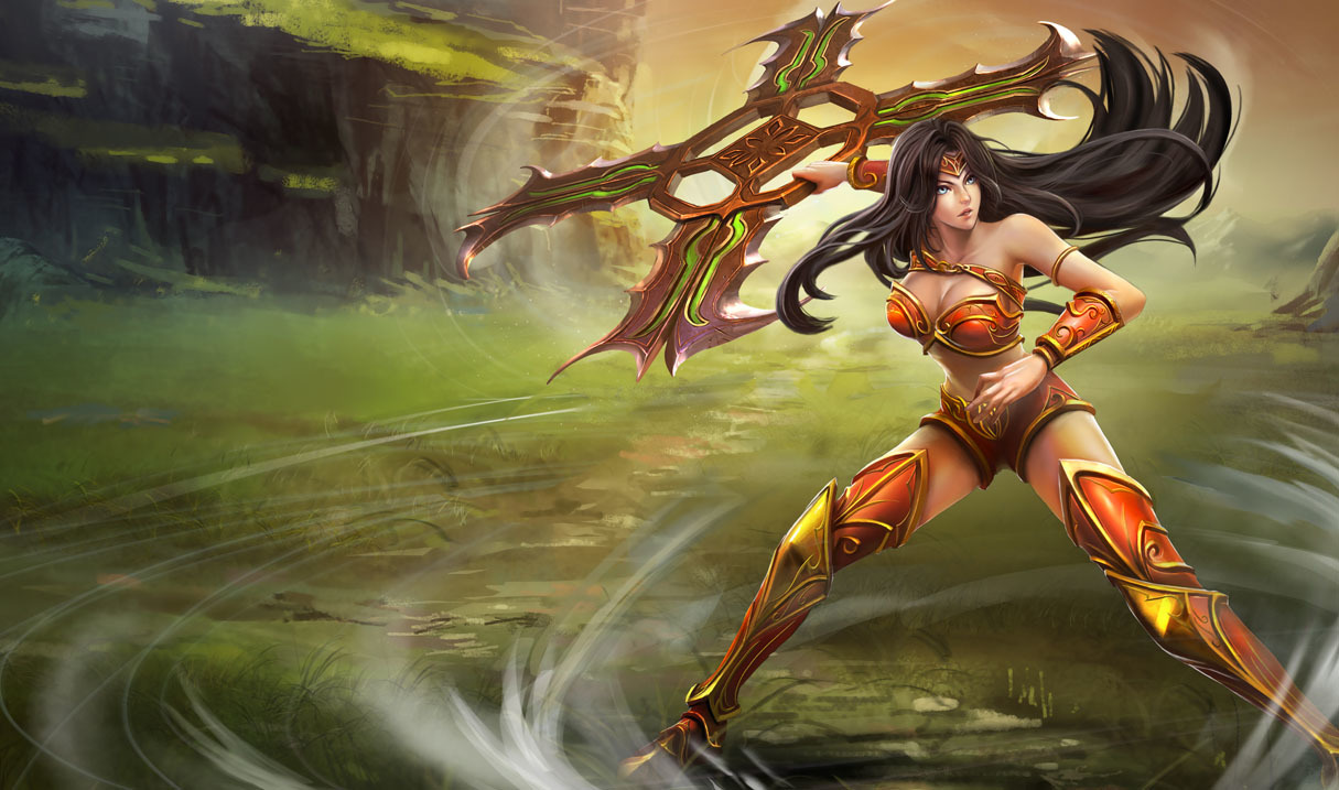 League of Legends Sivir HD Wallpaper