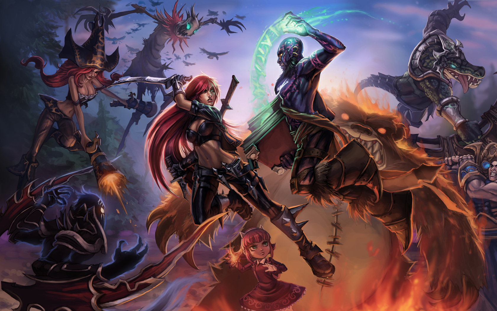 League of Legends weapons HD Wallpaper
