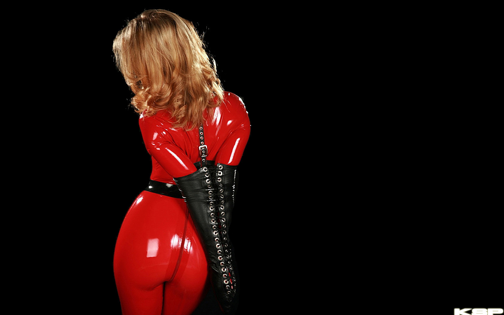 leather red bondage ancilla HD Wallpaper