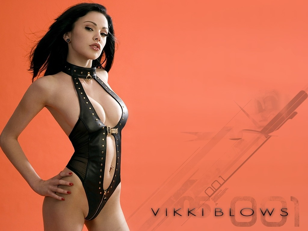 leather Vikki Blows HD Wallpaper