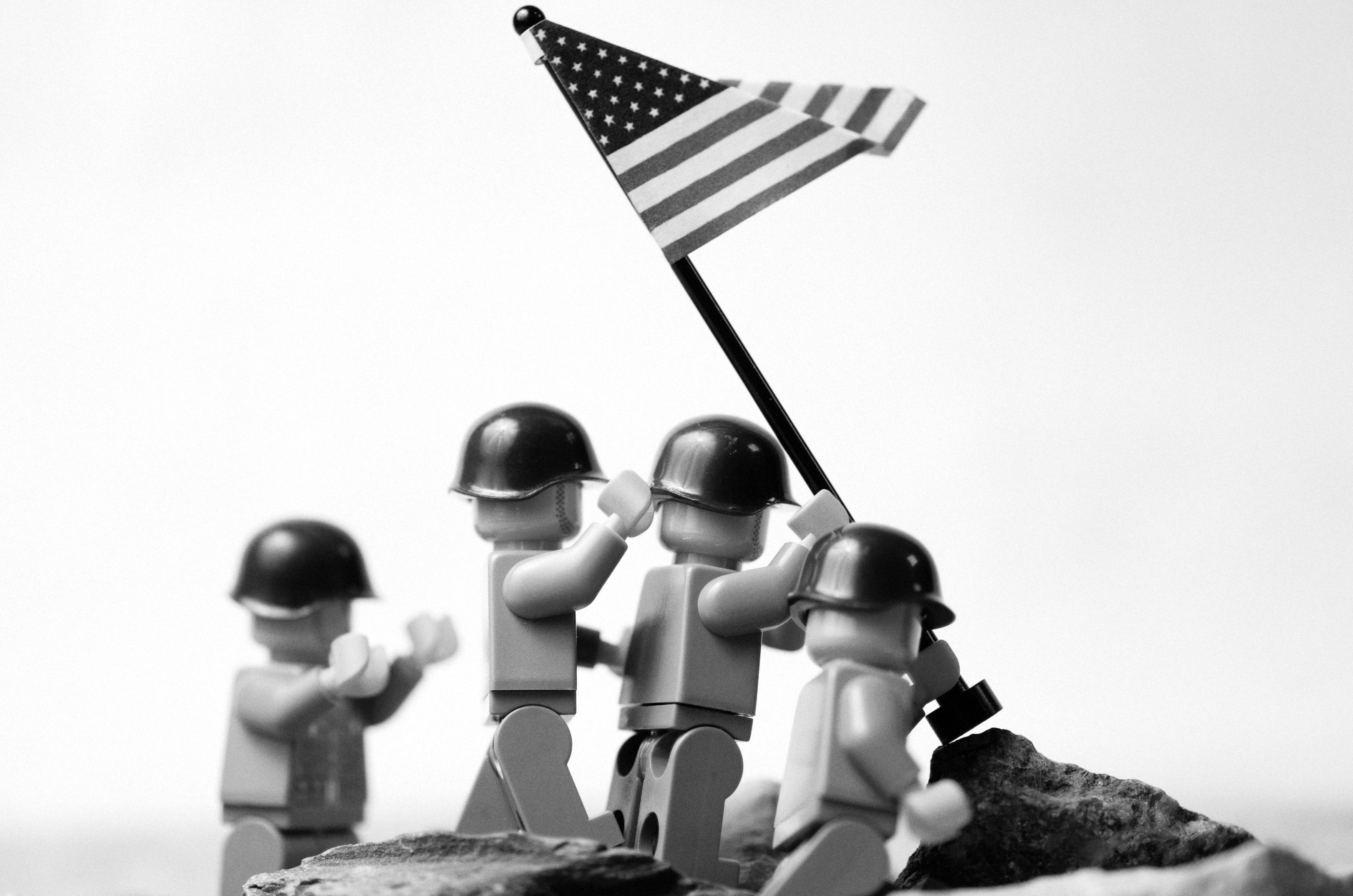 Lego parody monochrome American HD Wallpaper