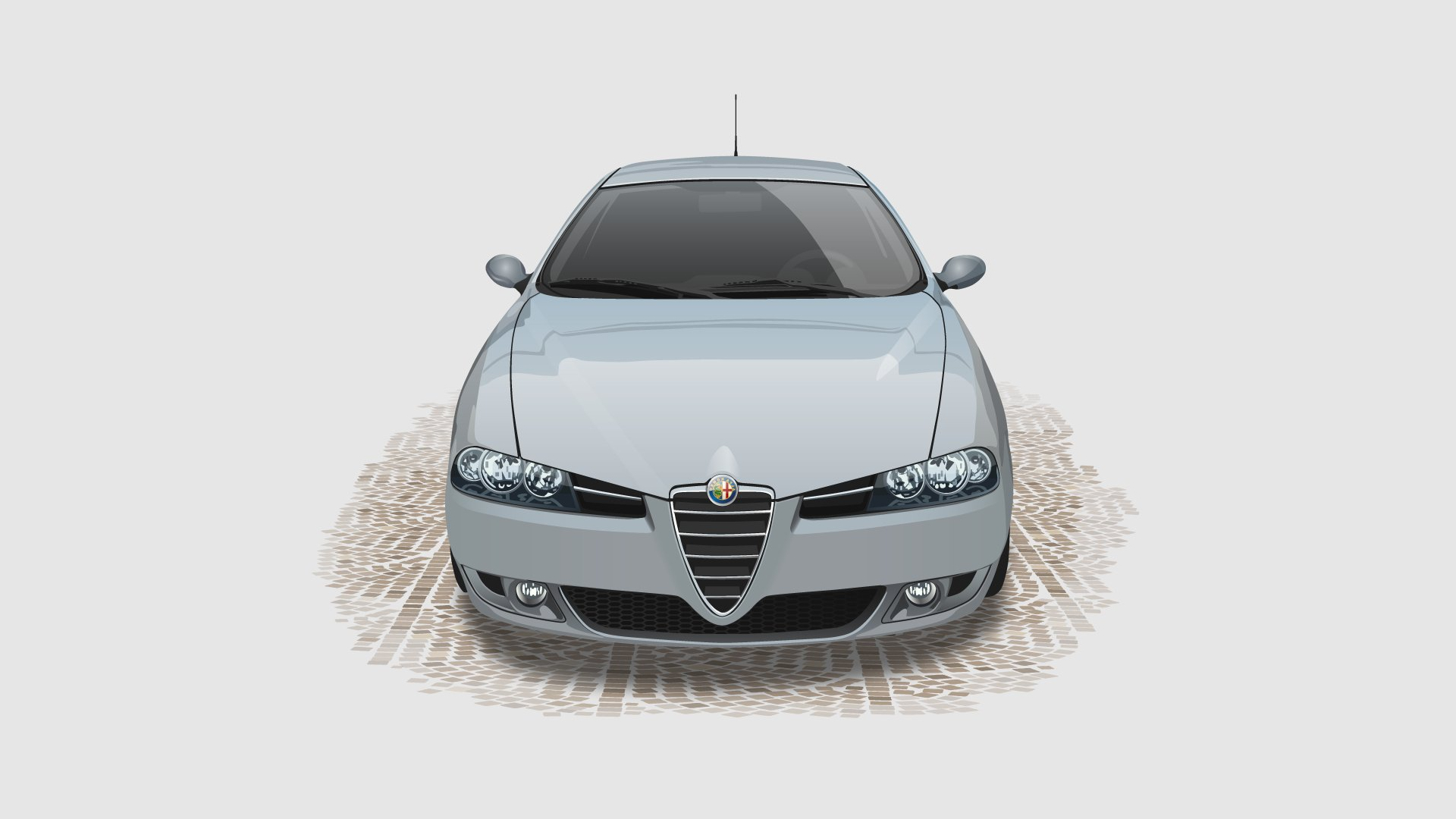 light Alfa Romeo Car HD Wallpaper