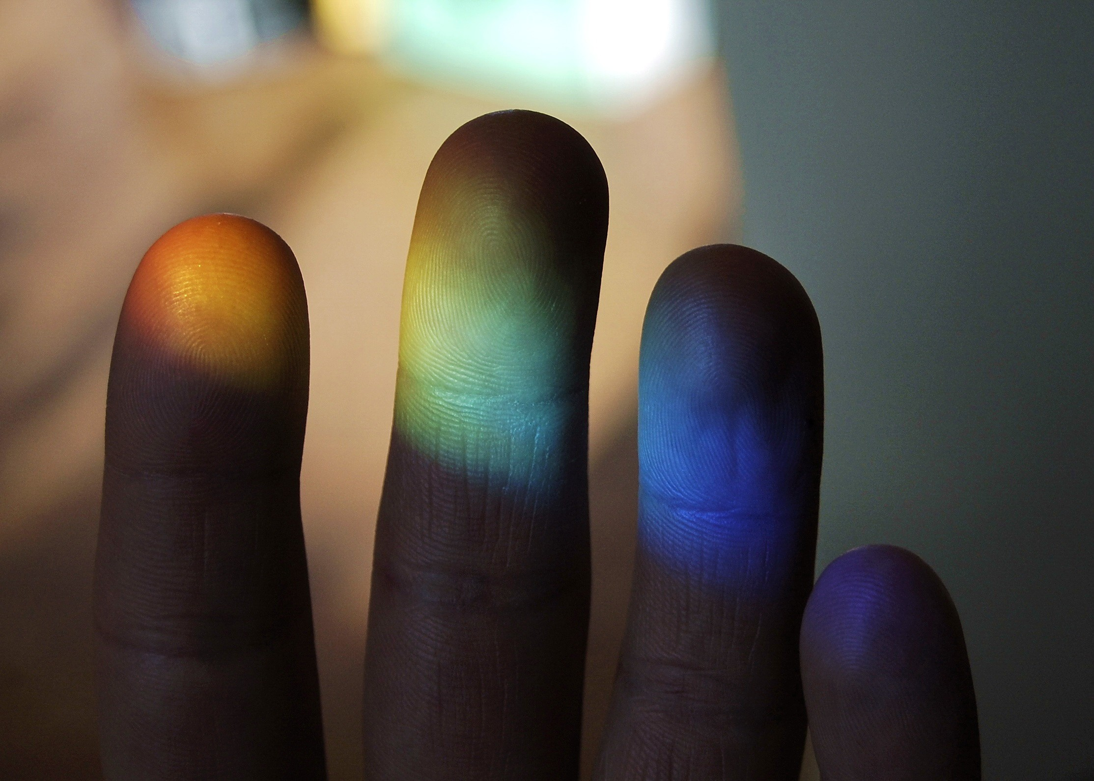 light multicolor hands fingers HD Wallpaper