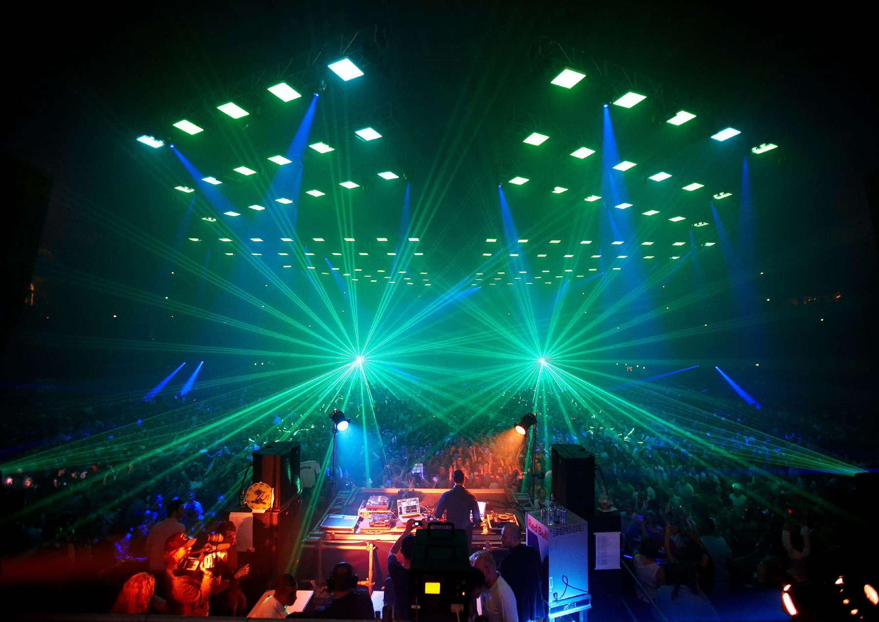 lights band concert Lasers HD Wallpaper