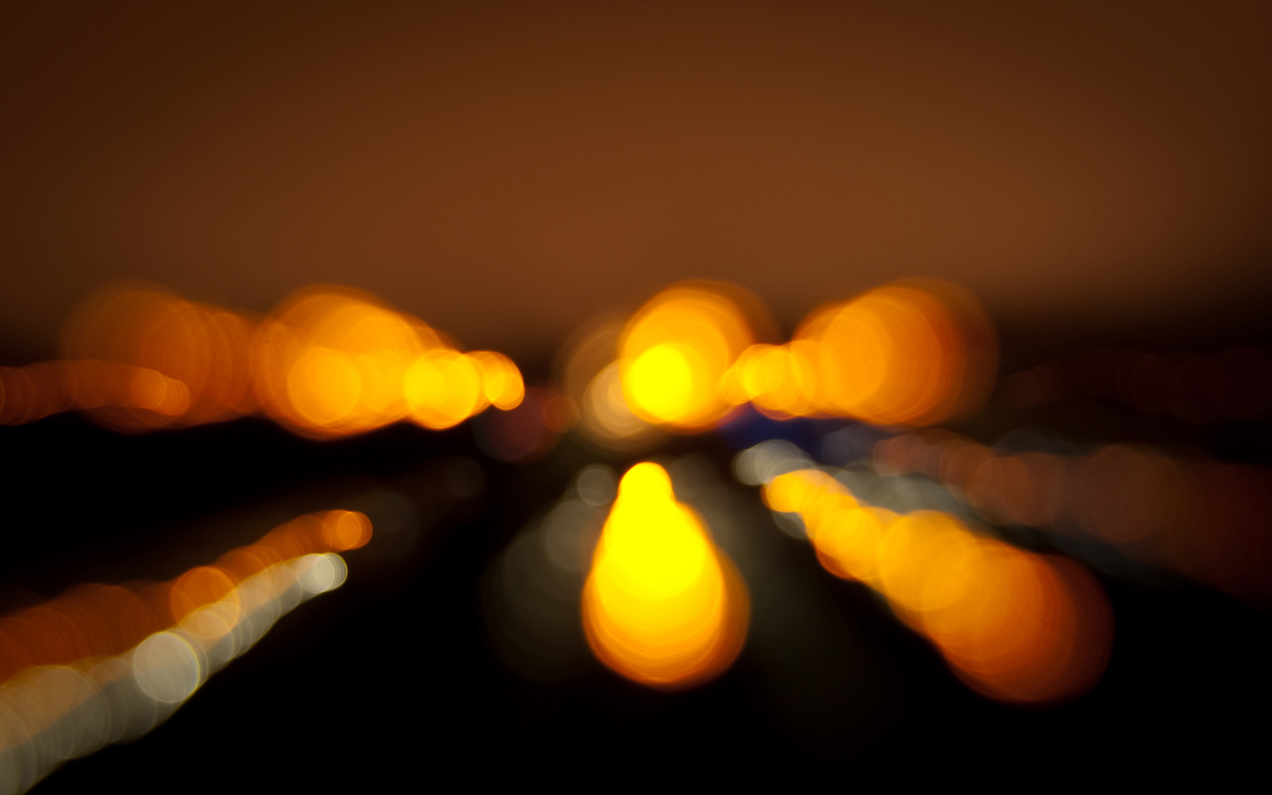 lights bokeh blurred HD Wallpaper