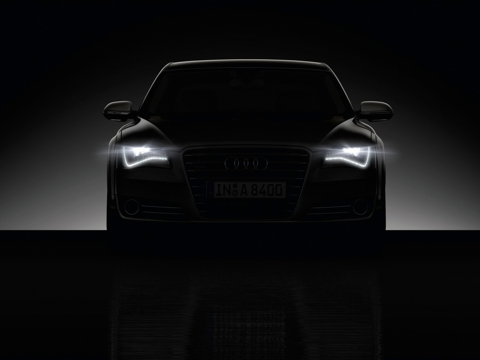 lights cars audi a8 HD Wallpaper