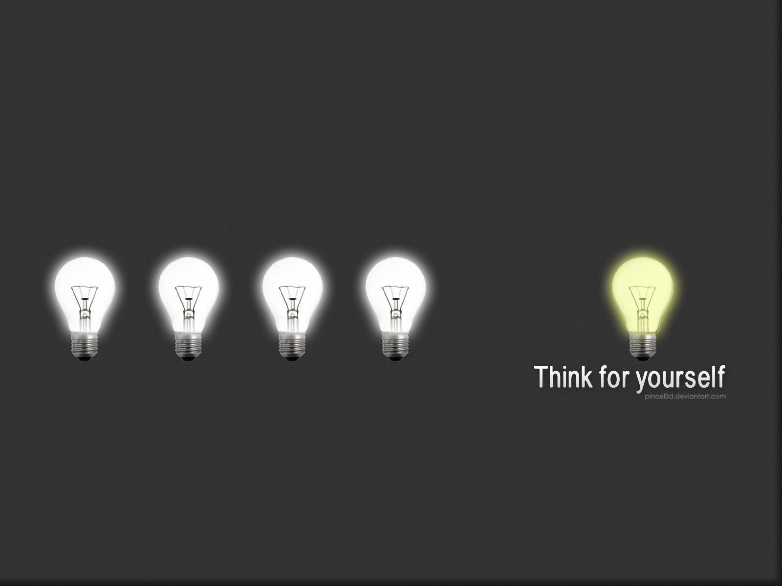 lights thinking light bulbs HD Wallpaper