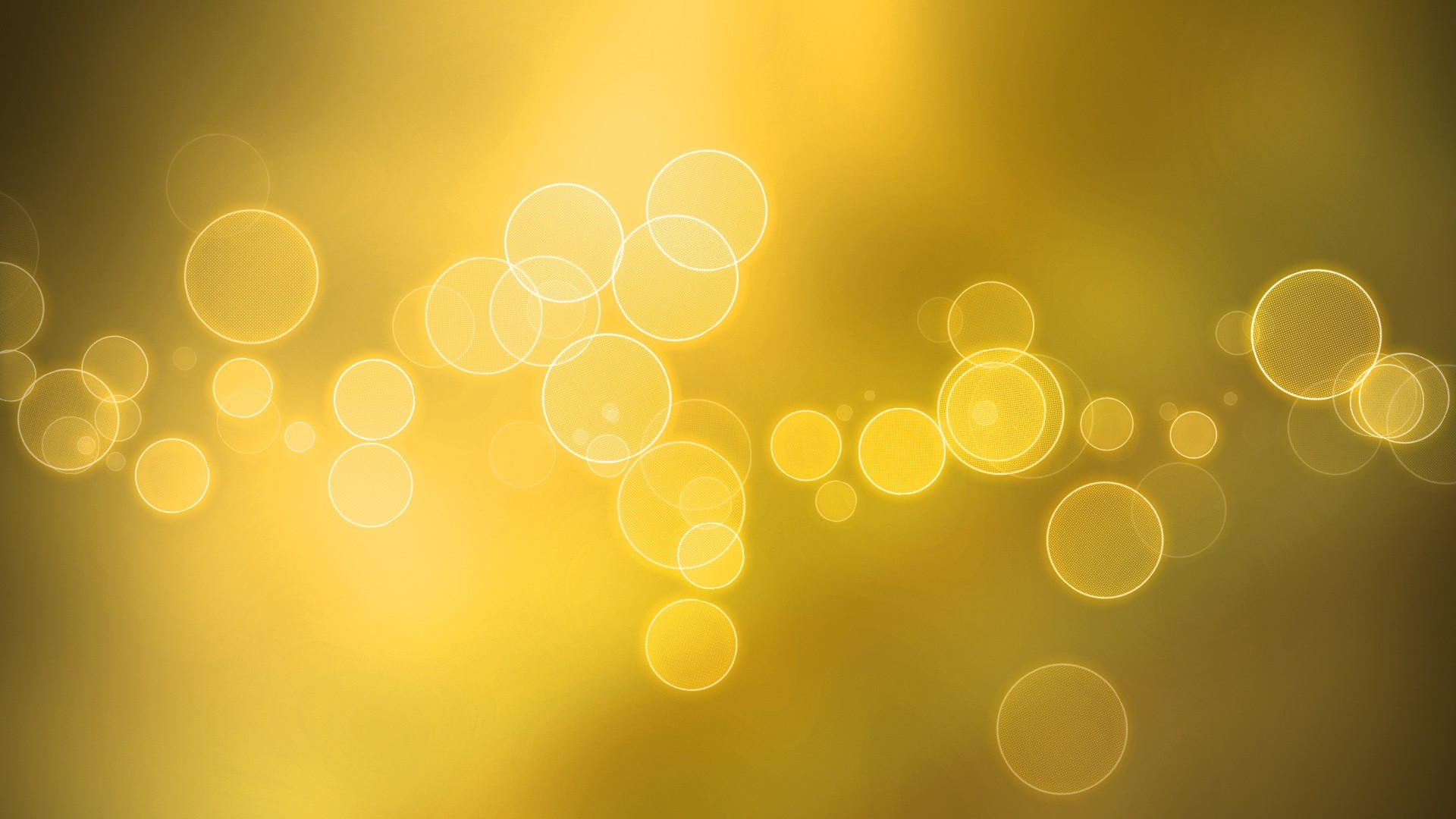 lights yellow gold bubbles HD Wallpaper