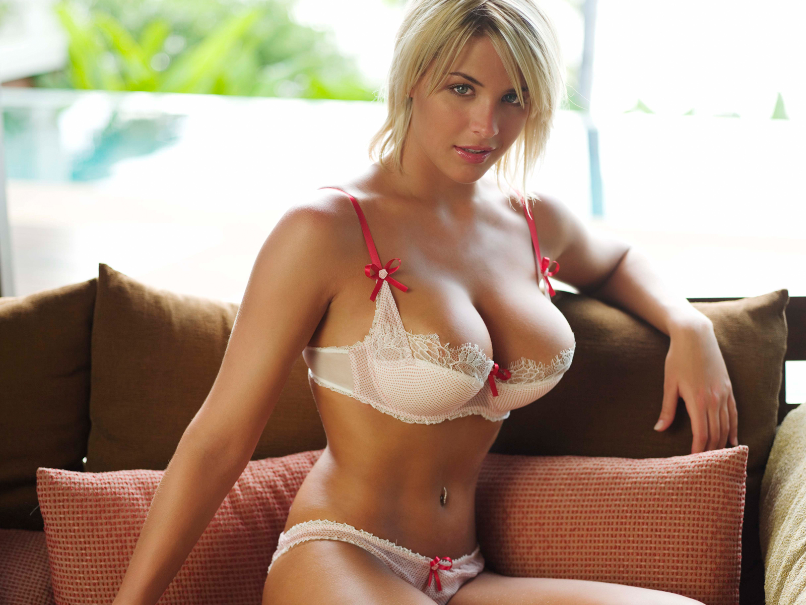 lingerie blondes woman Gemma