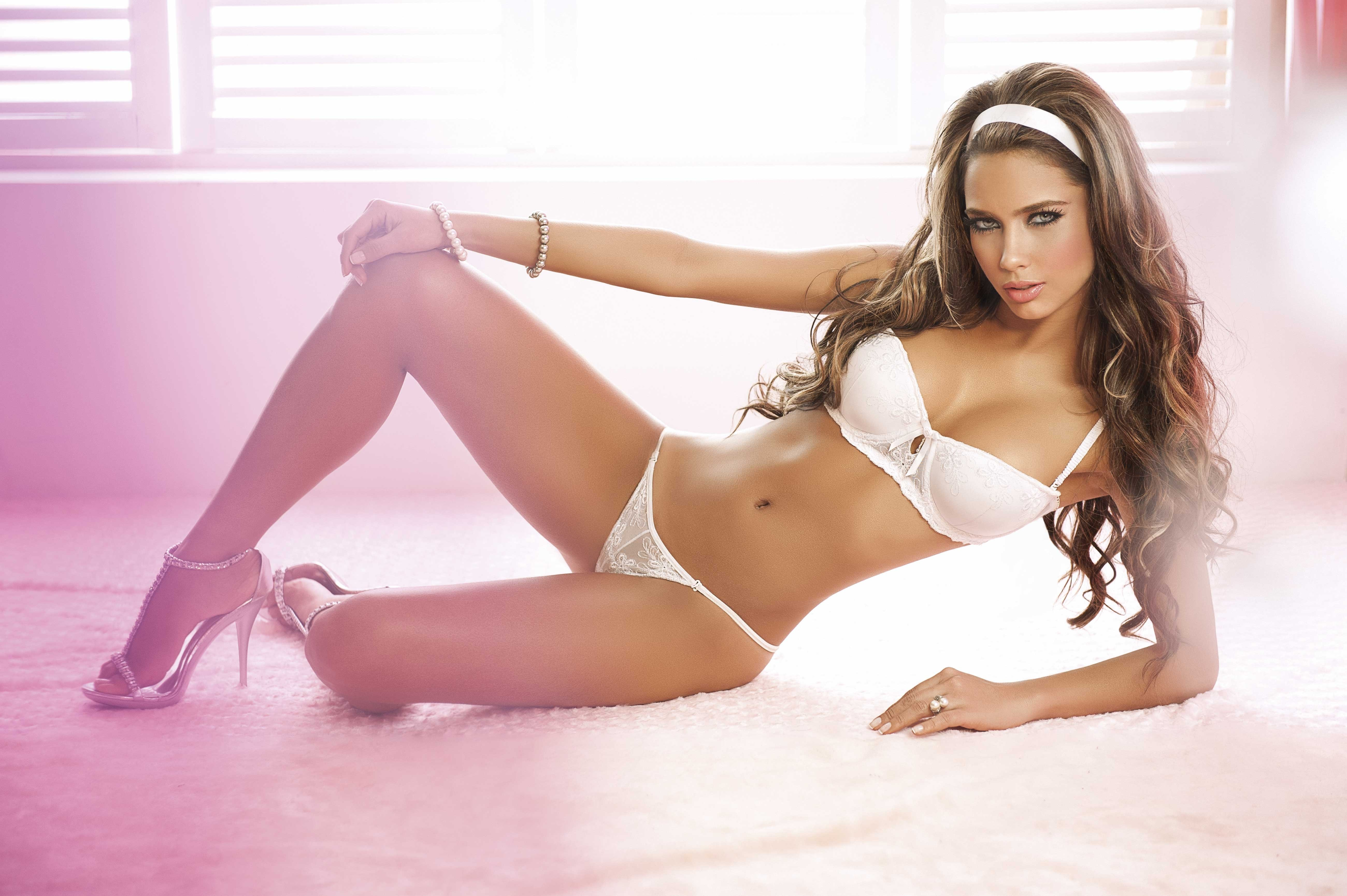 lingerie blondes woman panties HD Wallpaper