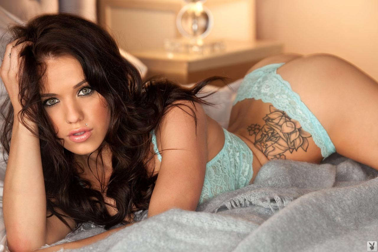 lingerie brunettes tattoos woman HD Wallpaper