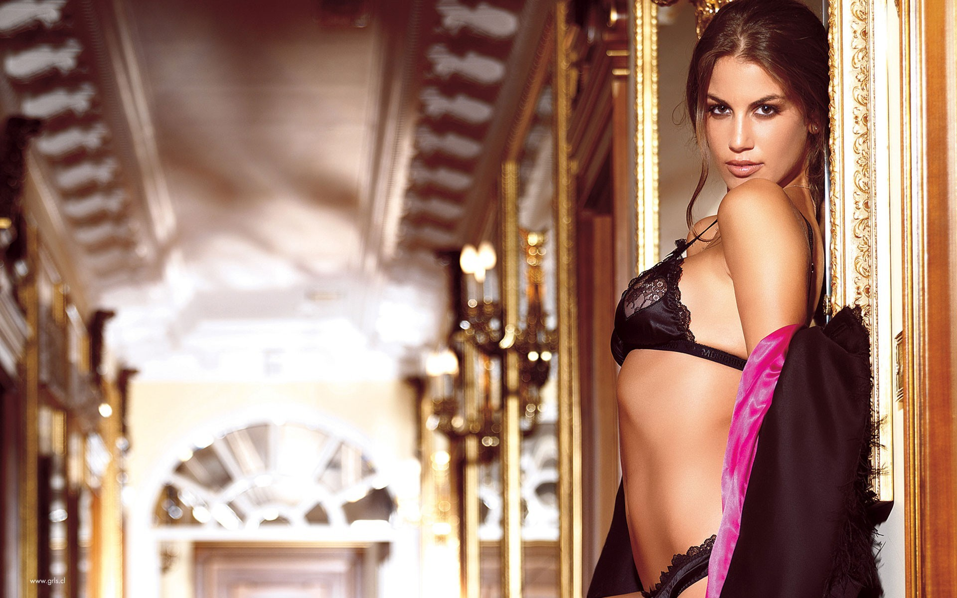 lingerie brunettes woman bra HD Wallpaper