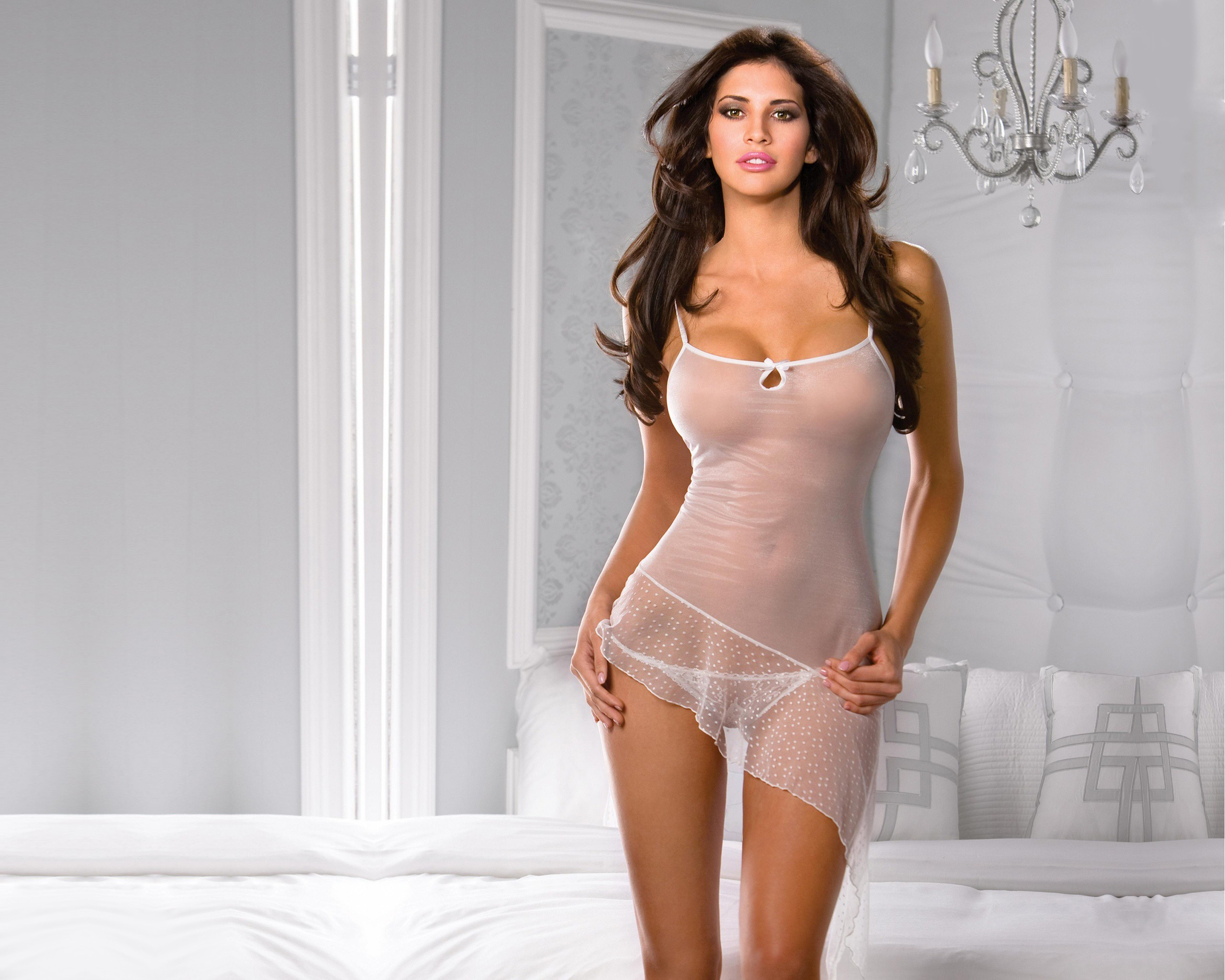 lingerie brunettes Women hope HD Wallpaper
