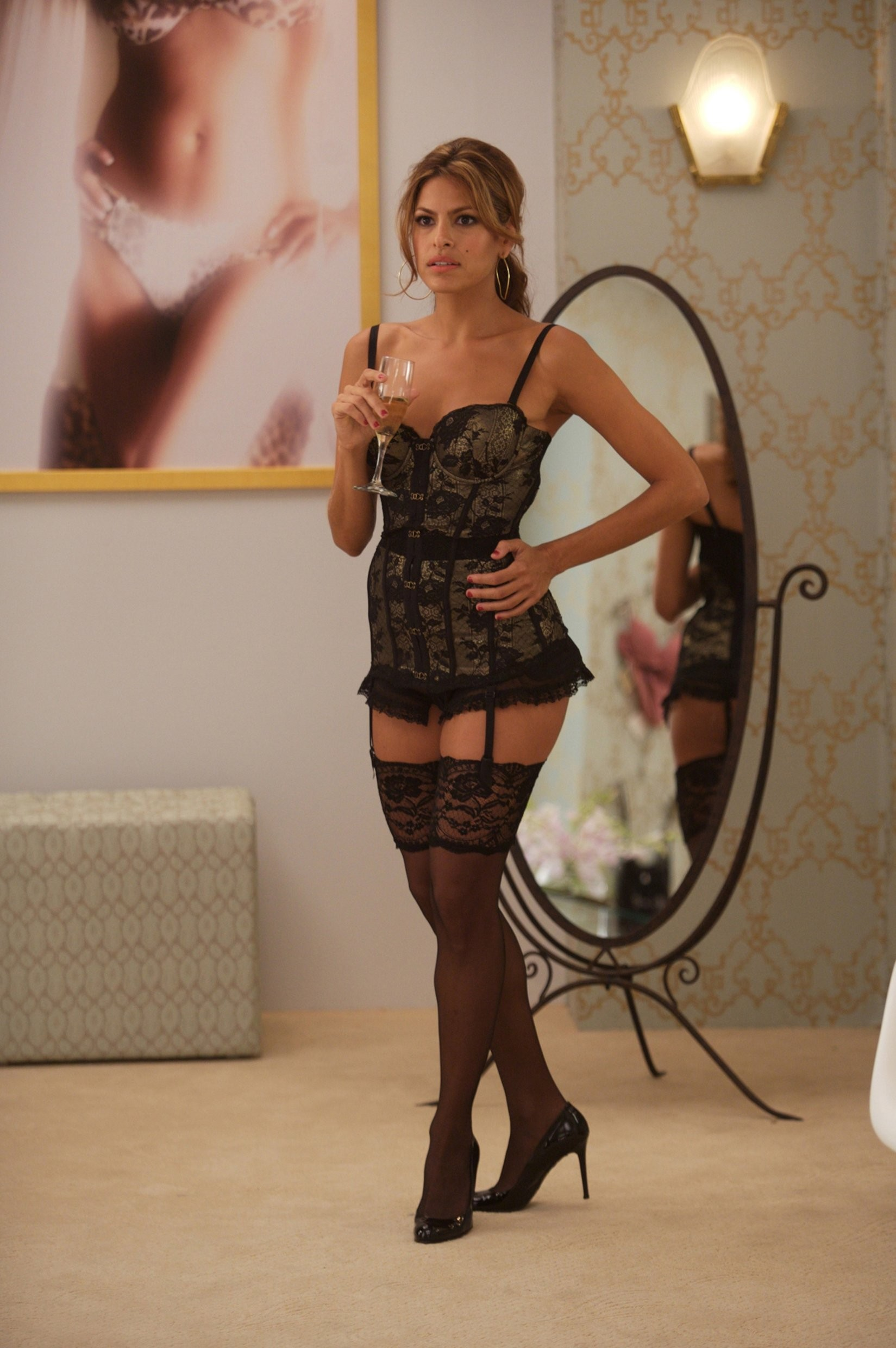 lingerie stockings Eva Mendes