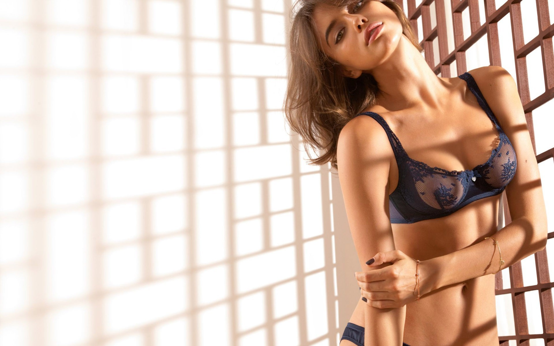 lingerie woman irina shayk HD Wallpaper