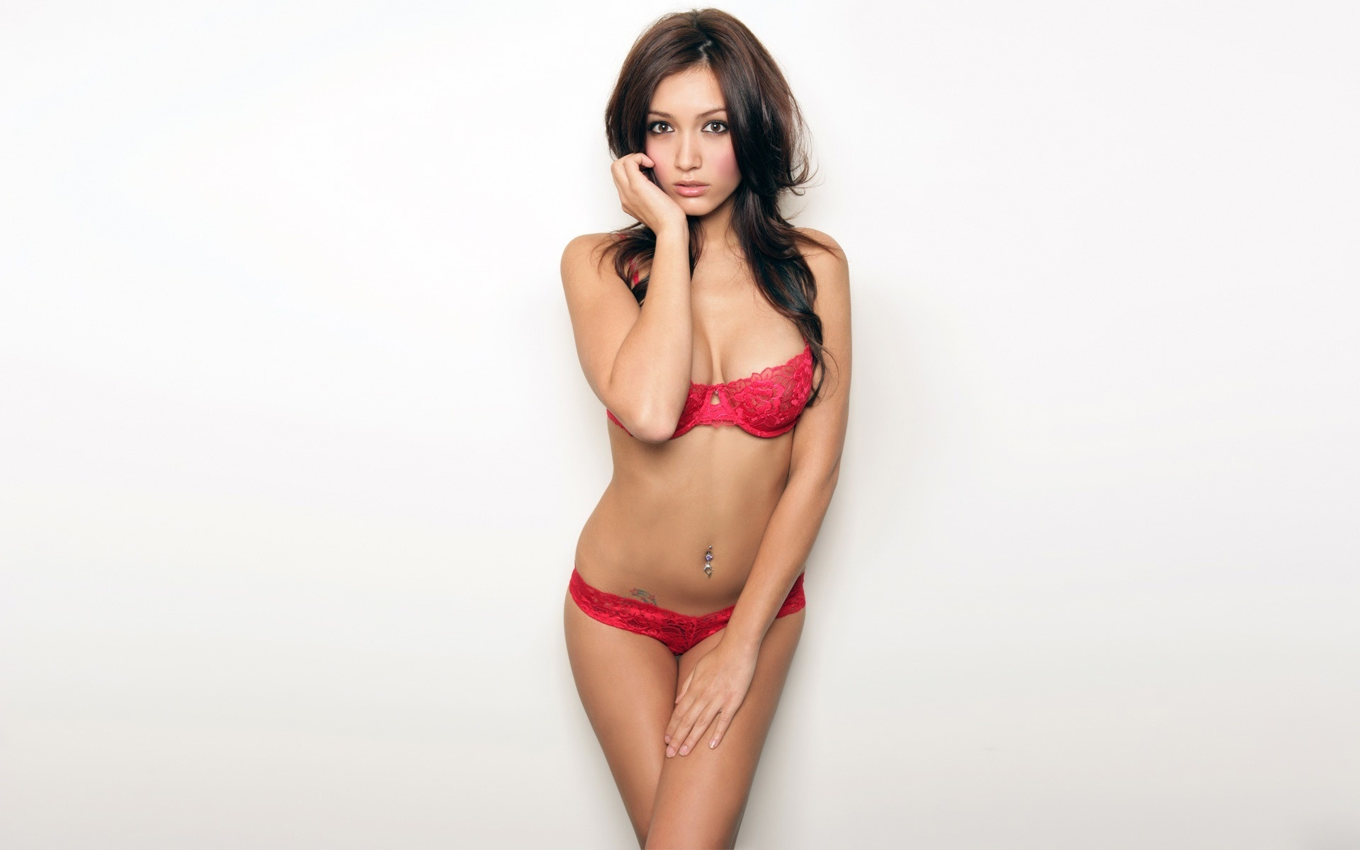 lingerie woman Misa Campo HD Wallpaper