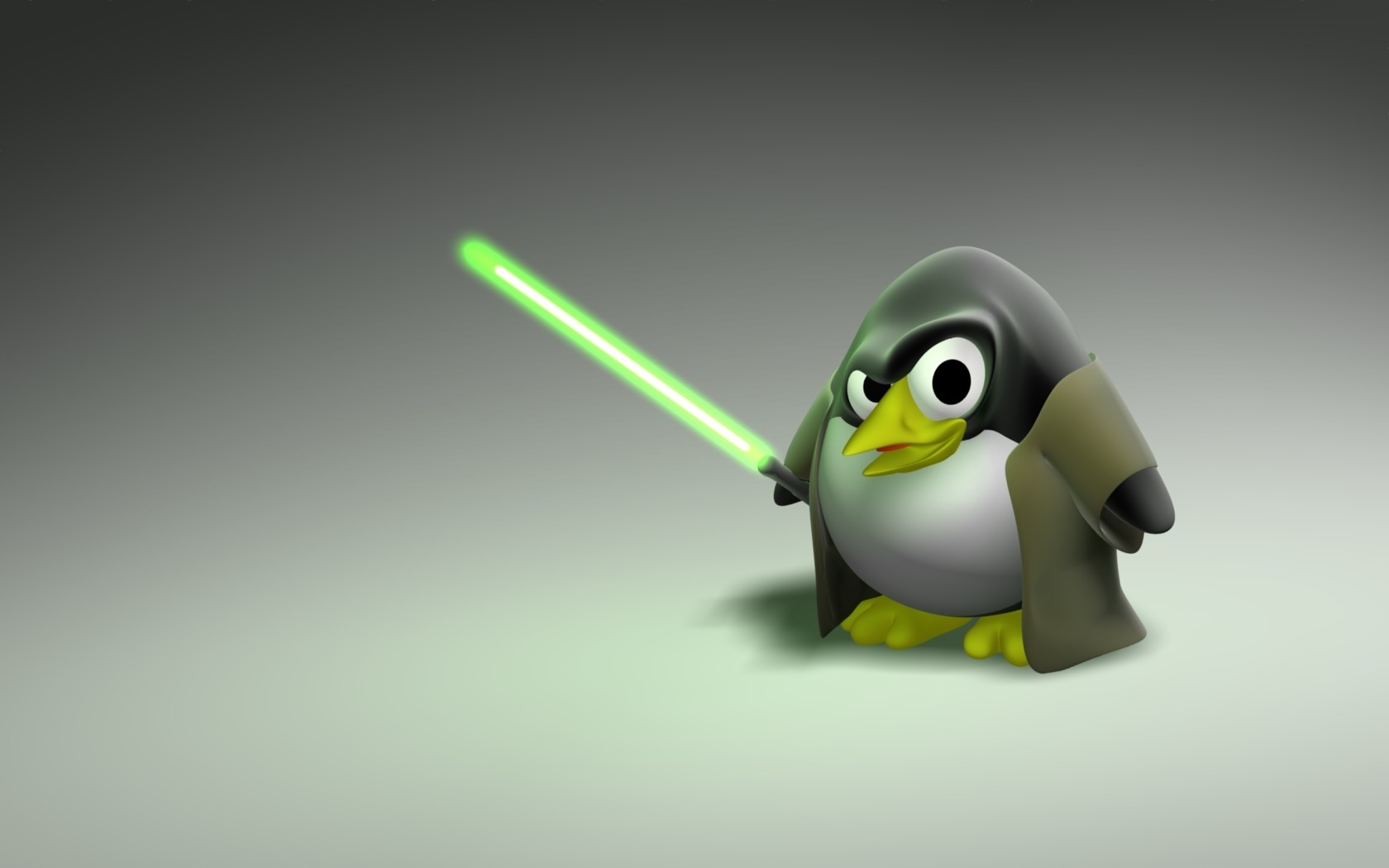 Linux tux jedi HD Wallpaper