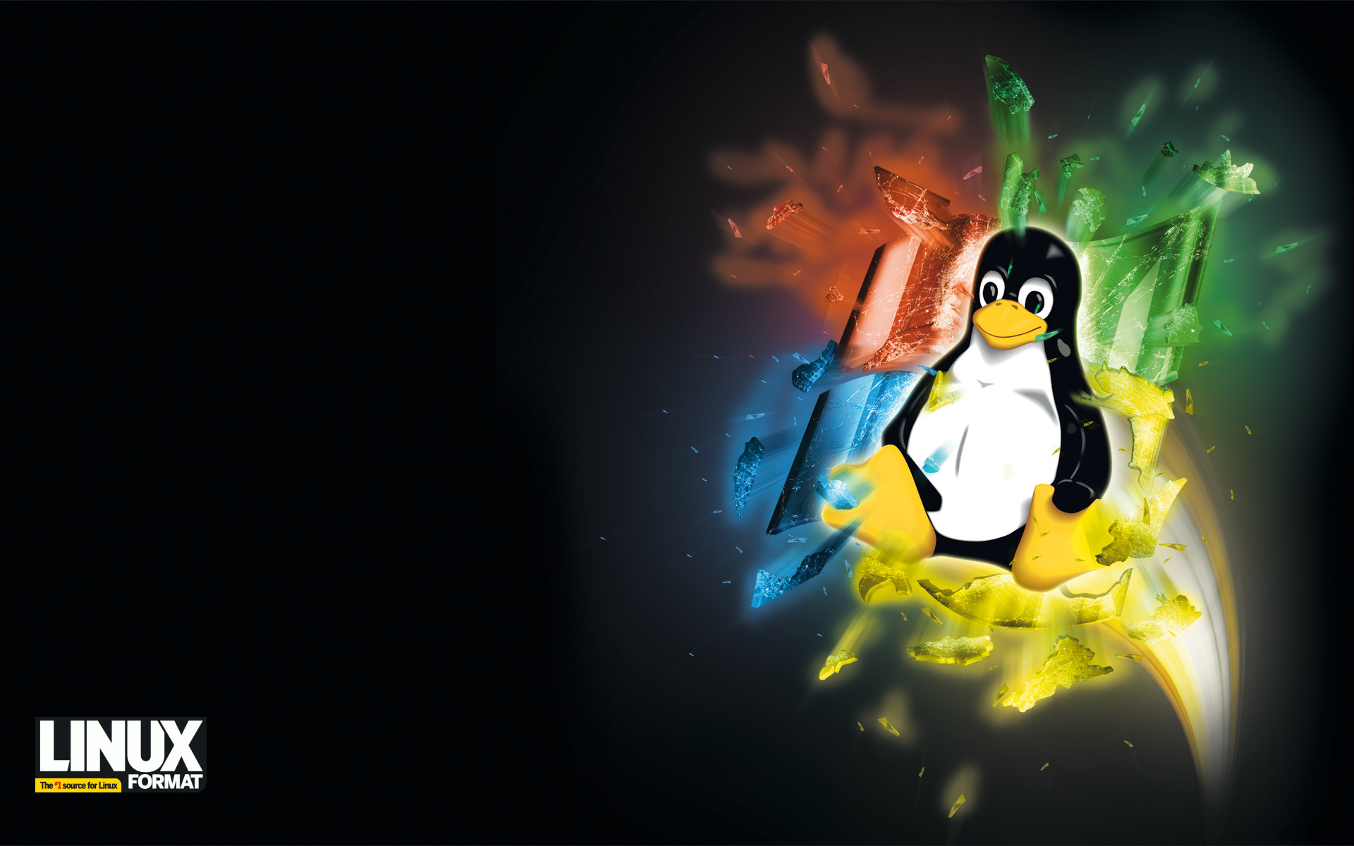 Microsoft Desktop Backgrounds on Linux Tux Microsoft Windows Operating System Wars Hd Wallpaper