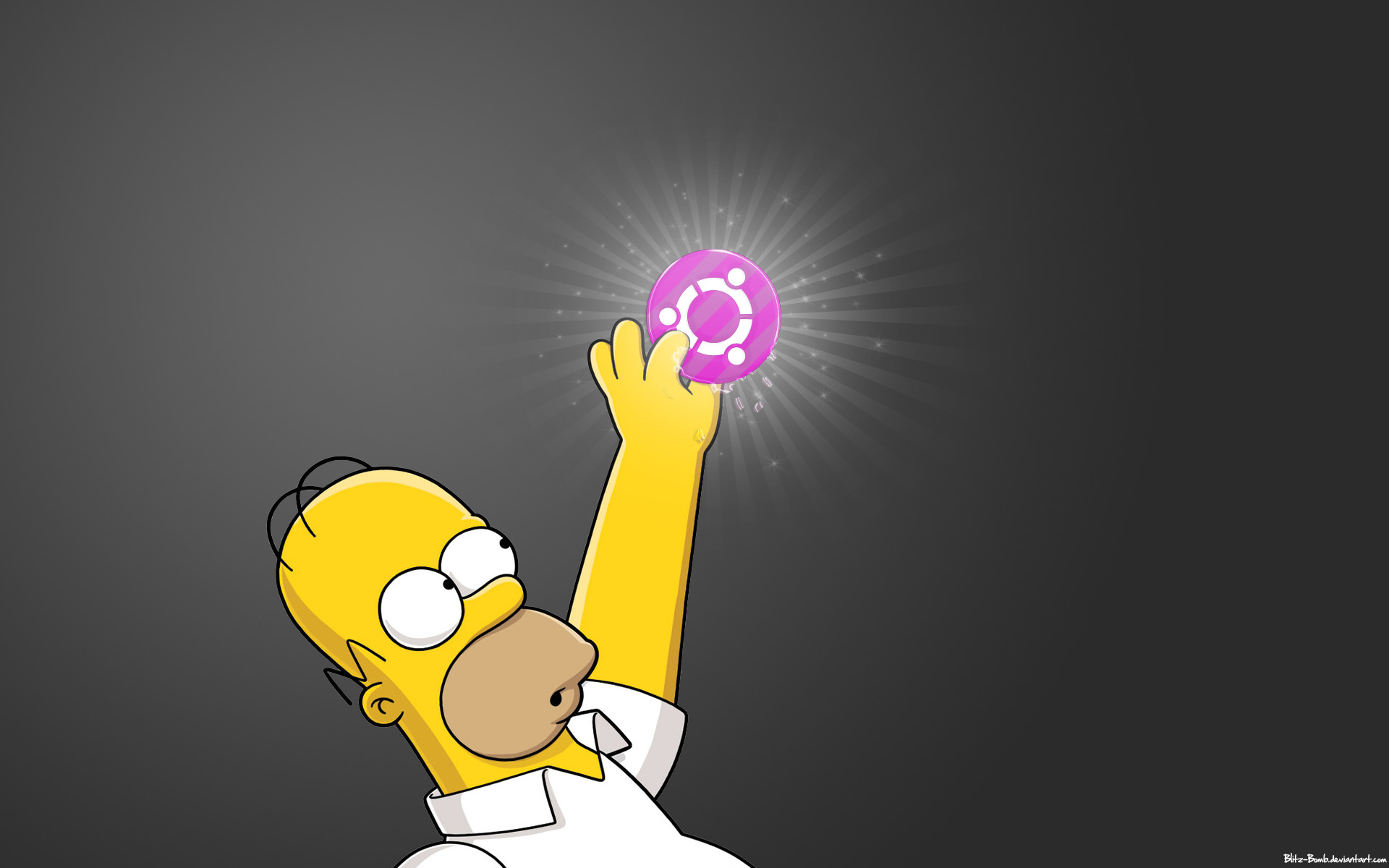 Linux ubuntu Homer simpson HD Wallpaper