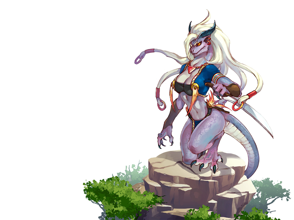 lizardwoman lizard nice drawing