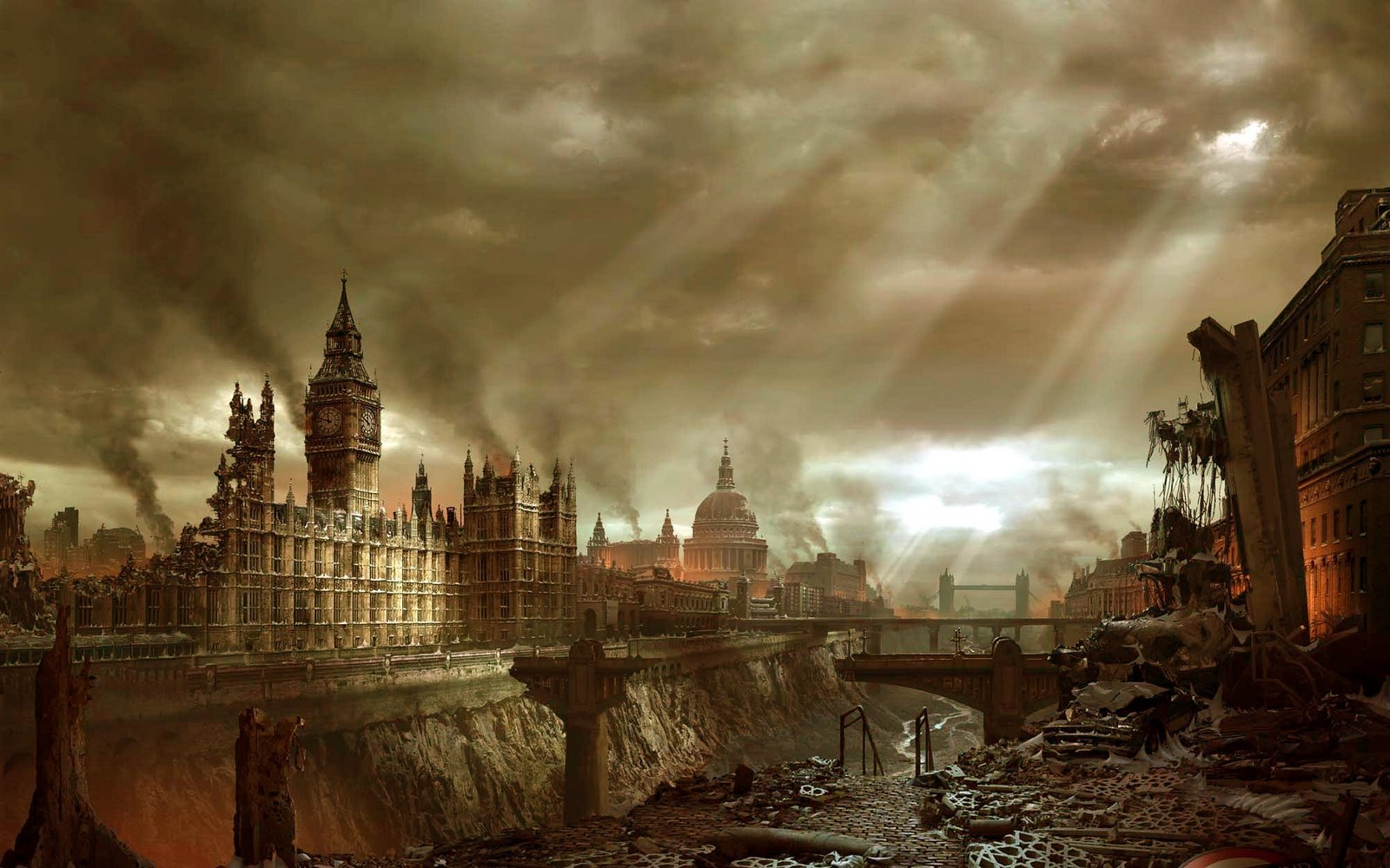 London ruins post-apocalyptic HD Wallpaper